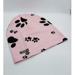 łapki - różowe tło (L)